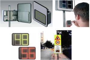 Πινακίδες υπόδειξης ταχύτητας οχήματος με συσκευή 3Μ